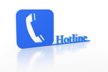Hotline blue symbol