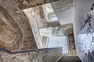 stairs of an abandoned building