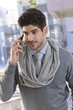 Portrait of confident businessman on phone call