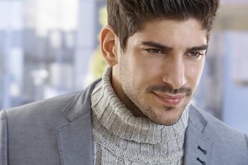 Closeup portrait of goodlooking young man