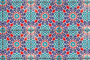 Tiles of blue mosque in istanbul - Ottoman decoration for wall