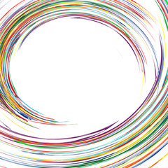 Abstract rainbow curved lines colorful background