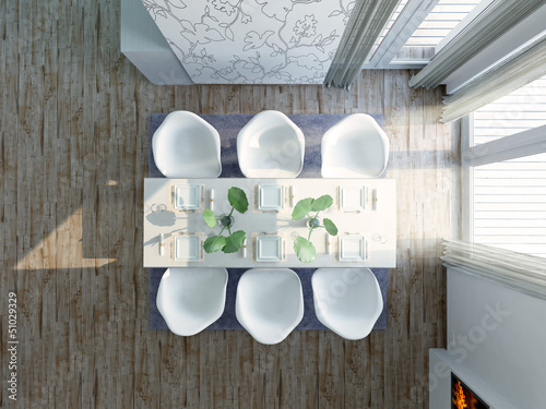 Gunnar Assmy   Fotolia.com Modern, Extravagant Dining Room, Birdview  Penthouse