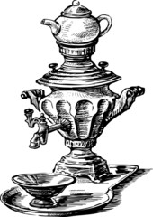 samovar with tea