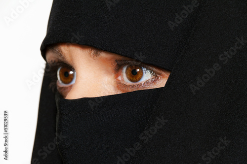 Symbolfoto Islam. Verschleierte Frau