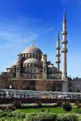 Yenicami - istanbul mosque in spring day
