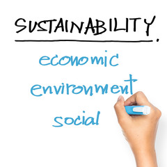 Sustainability on whiteboard