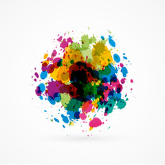 abstract splash colors