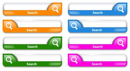 Colorful search bar design