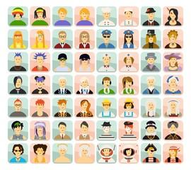 set avatar people