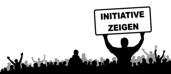 Menschen Gruppe Initiative zeigen