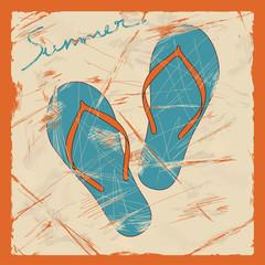 Illustration of flip flops
