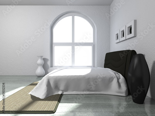 canvas print picture Wohndesign - Schlafzimmer modern