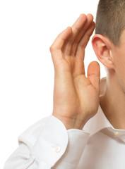 businessman listening