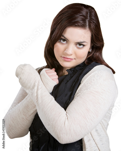 Skeptical Lady with Arms Crossed
