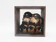 箱に入った2匹のミニチュアダックスの子犬