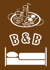 Bed & Breakfast vector illustration