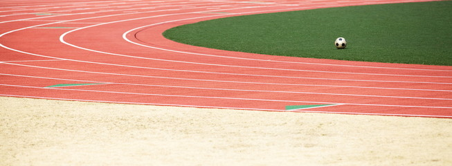Athletic track and Ball