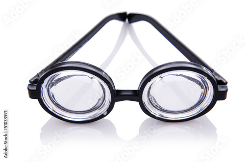Funny nerd glasses isolated on white