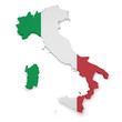 Italy Map 3d Shape