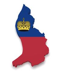 Liechtenstein Map 3d Shape