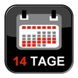 Glossy Button - Kalender: 14 Tage
