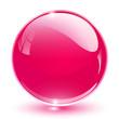 3D crystal sphere pink