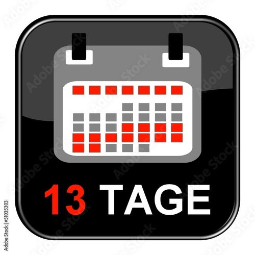 Glossy Button - Kalender: 13 Tage