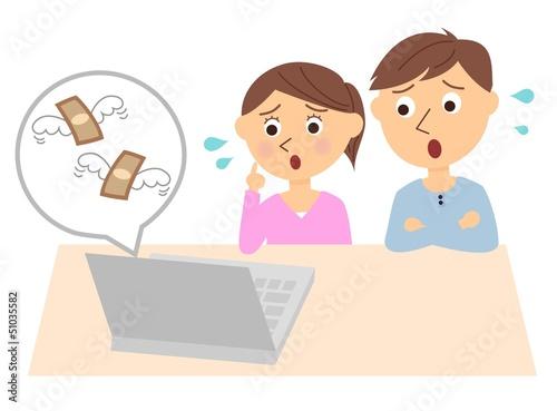 夫婦 お金 悩む PC