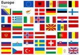 Europe Flags, Europa Fahnen Flaggenset