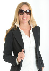 Elegant woman with sunglasses
