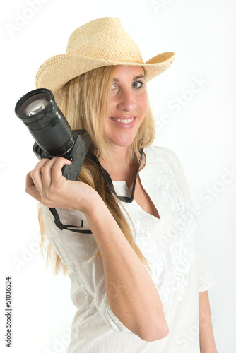 Photographer with hat