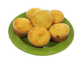 Corn Muffins Green Plate