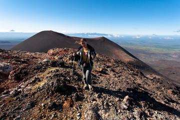 Trekking on Kamchatka.