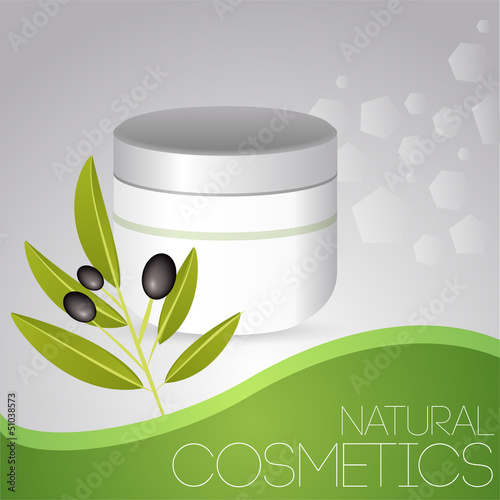 Cosmetic cream with olives