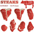 Vector Illustration Steak Cuts