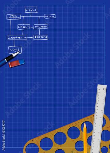 Business blueprint background