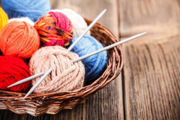 Knitting yarn balls