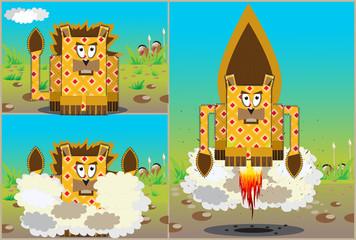 rocket lion