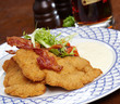 Schnitzel with salad