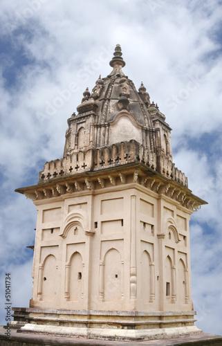 Closeup of Ancient temple at Jabalpur, India