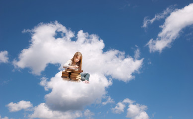 Girl on the cloud