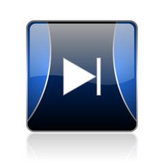 next blue square web glossy icon