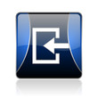 enter blue square web glossy icon