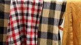 Old plaid loincloth and bath towels