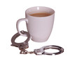 handcuff with coffee