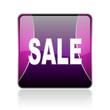 sale violet square web glossy icon