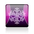 winter sale violet square web glossy icon