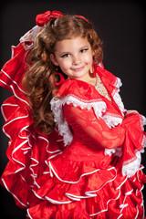 Little girl dancing flamenko