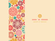 Vector abstract decorative circles horizontal seamless pattern